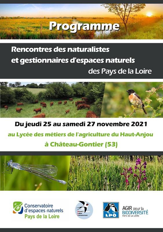 Rencontres des Naturalistes et des Gestionnaires d'Espaces Naturels des Pays de la Loire édition 2021